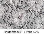 lace with flower pattern on... | Shutterstock . vector #149857643