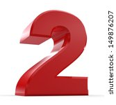 3d red number collection 2 | Shutterstock . vector #149876207
