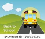 back to school bus    Shutterstock .eps vector #149884193