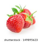 ripe strawberries isolated on... | Shutterstock . vector #149895623