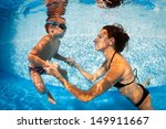 mother and son having fun... | Shutterstock . vector #149911667