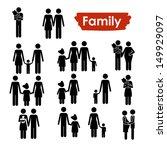 family icons over white... | Shutterstock .eps vector #149929097