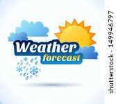 vector weather forecast for tv... | Shutterstock .eps vector #149946797