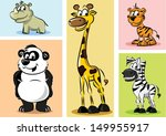 set of wild and domestic... | Shutterstock .eps vector #149955917