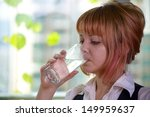girl with glass of water | Shutterstock . vector #149959637