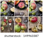 apples collage | Shutterstock . vector #149963387