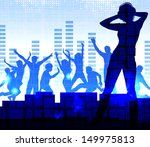 music dj  night party... | Shutterstock .eps vector #149975813