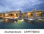 swimming pool and illuminated... | Shutterstock . vector #149978843