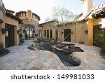 paved courtyard garden with...   Shutterstock . vector #149981033