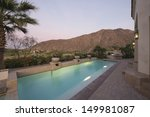 paved poolside area of home...   Shutterstock . vector #149981087