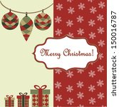 merry christmas  background | Shutterstock .eps vector #150016787