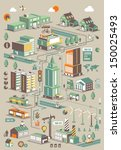 ecology city info graphic... | Shutterstock .eps vector #150025493
