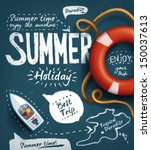 summer creative design template | Shutterstock .eps vector #150037613