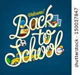 back to school design template | Shutterstock .eps vector #150037847