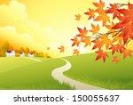 Autumn Landscape. Vector...