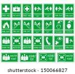 green safety sign. vector... | Shutterstock .eps vector #150066827