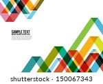 abstract colorful triangle... | Shutterstock .eps vector #150067343