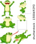 cute frog cartoon collection set | Shutterstock .eps vector #150069293