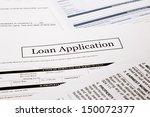 loan application form  business ... | Shutterstock . vector #150072377