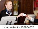 smiling stylish beautiful... | Shutterstock . vector #150086093