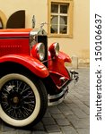 Red Rarity Vintage Car