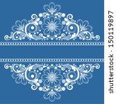 vector vintage floral ... | Shutterstock .eps vector #150119897