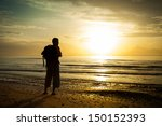 Silhouette Of A Man With A...