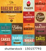 set of vintage retro bakery... | Shutterstock .eps vector #150157793