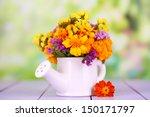 bouquet of marigold flowers in...   Shutterstock . vector #150171797