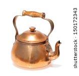 Antique Copper Teapot  Closeup...