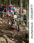 Small photo of MONT STE-ANNE, QUEBEC, CANADA - August 10: Cross Country Men Elite, 1st plcace, FRA - ABSALON Julien, UCI World Cup on Aug. 10, 2013