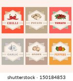 vegetables set labels  garlic ... | Shutterstock .eps vector #150184853