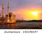 Ortakoy Mosque And Bosphorus...