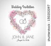 wedding invitation | Shutterstock . vector #150202097