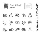 sales   retail related icons.