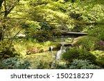 grey buddha with bamboo... | Shutterstock . vector #150218237