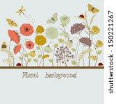 floral background | Shutterstock .eps vector #150221267