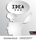 Open Head Idea   Paper Bubble ...