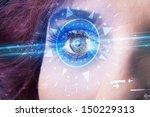 modern cyber girl with...   Shutterstock . vector #150229313