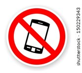 sticker of no mobile phone sign ... | Shutterstock . vector #150229343