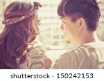 dating young couple in love... | Shutterstock . vector #150242153