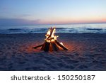 Inviting Campfire On The Beach...