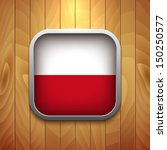 rounded square polish flag icon ... | Shutterstock .eps vector #150250577