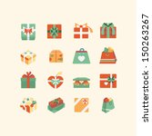 git box icon set | Shutterstock .eps vector #150263267