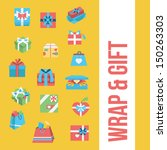 git box icon set | Shutterstock .eps vector #150263303