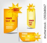 colorful summer sale labels set | Shutterstock .eps vector #150268067