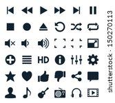 media player icons | Shutterstock .eps vector #150270113