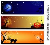 set of horizontal halloween...   Shutterstock .eps vector #150285677