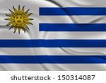 amazing flag of uruguay  | Shutterstock . vector #150314087