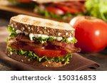fresh homemade blt sandwich... | Shutterstock . vector #150316853